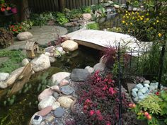 """What is more fun that getting close to your water feature?  Bridges, paths, stepping stones, patios in the shade... ideas for your backyard pond! Inspired Design Landscapes Inc. """"from inspiration to installation!"""" www.idl-inc.com"""