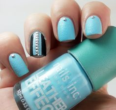 the nail polish challenge - Studs and Leather nails