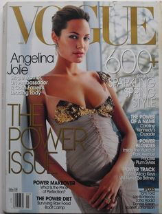 ANGELINA JOLIE March 2004 VOGUE MAGAZINE Scarlett Johansson TOM FORD Zaha Hadid $12.50