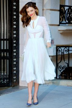 Love this dress which could be recreated with a skirt and a mesh one suit!
