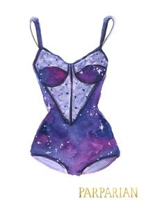 Galaxy playsuit print Stefanie Merullo for Parparian