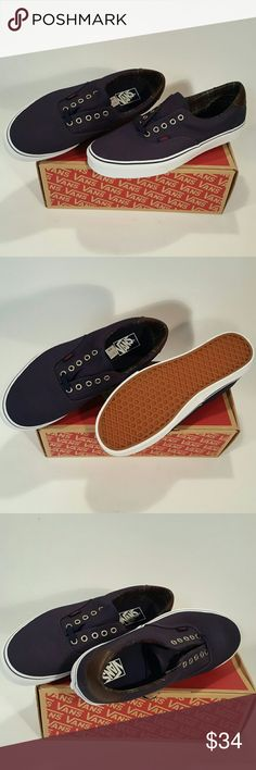 VANS Era 59 VANS Era 59 Dress Blues with leather backing Vans Shoes Sneakers