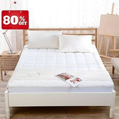 """Mattress Pad Cover with 18"""" Deep Pocket 300TC Cotton Down Mattress Topper for King Beds by BLC (Down Alternative, King) (Down Alternative, King). For product & price info go to:  https://all4hiking.com/products/mattress-pad-cover-with-18-deep-pocket-300tc-cotton-down-mattress-topper-for-king-beds-by-blc-down-alternative-king-down-alternative-king/"""