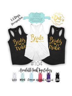 Bride's tribe tank top Bride tank top by DatBoutiqueNola on Etsy