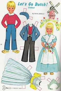 Dutch paper dolls