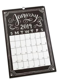 For Mamacita <3  Sketch Me In 2014 Calendar - Black, White, Good, Work, Dorm Decor