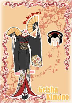 Kimono Paper doll Clothes 6 by ~j-nury on deviantART