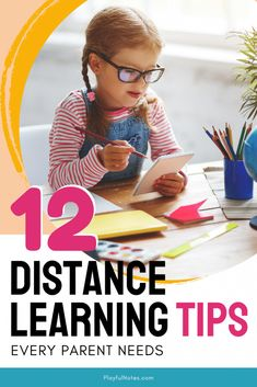 Discover 12 distance learning tips for parents that will make school days easier to manage for you and your kids. Doing school at home is not easy, and these tips can make a big difference!