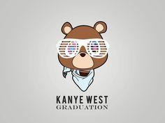 Kanye west Bear gif