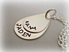 Hand Stamped Personalized Sterling Silver by DanielleJoyDesigns, $55.00