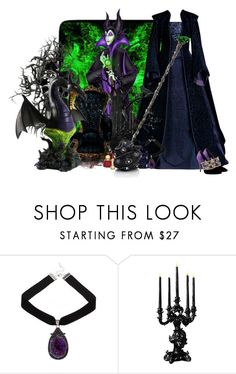 """maléfique"" by frane-x ❤ liked on Polyvore featuring Disney, Seletti and Surface To Air"