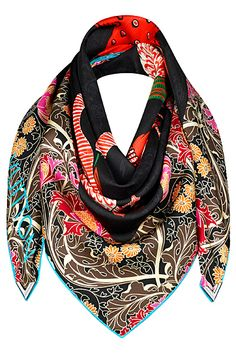 Louis Vuitton - im falling in love with scarfs, id love this in my closet/drawer/whatever it is I have these in lol. Only Fashion, Love Fashion, Womens Fashion, Fashion Design, Classic Outfits, Casual Outfits, Louis Vuitton Scarf, Designer Scarves, How To Wear Scarves