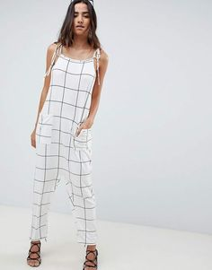 a807b6f108 DESIGN Jersey Jumpsuit With Drop Crotch And Harem Pant in Tie Dye ...