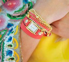 La Mer charm wrap watches. Love!!