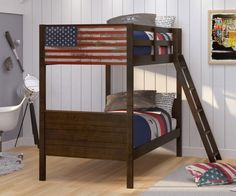 Patriot solid wood bunk bed in Houston