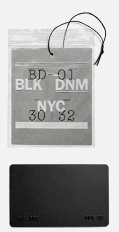 hangtag with screen printed zip-lock pouch