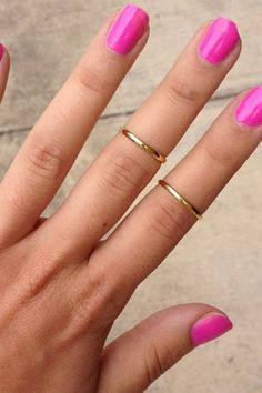 Thin Upper Knuckle Ring by Sabo Skirt. Can't wait to stack these up with some other rings.