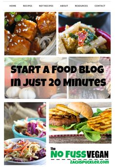 Let The No Fuss Vegan teach you how to start a food blog in just 20 minutes!
