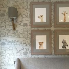 How adorable are these baby animal prints and wallpaper! The nursery is from sophiepatersoninteriors