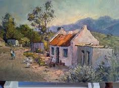 Image result for artist / conrad theys Fishermans Cottage, Landscape Paintings, Art Paintings, Landscapes, Artistic Tile, South African Artists, Art Photography, Canvas Art, Watercolor