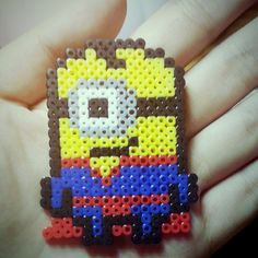 Superman Minion perler beads by sylvia_0210