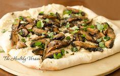 Portobello Mushroom Pizza – The Healthy Version Vegan Pepperoni, I Love Pizza, Portobello, Plant Based Diet, Cheesesteak, Stuffed Mushrooms, Dinner, Healthy, Ethnic Recipes