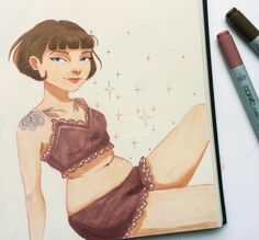 Dreamy Illustrations Of Quirky Tattooed Girls Youll Want To Meet In Real Life