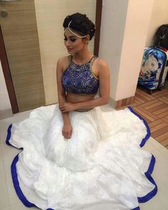 Mouni roy #saree #hot #beauteful #New #styal #white #Actress #tv