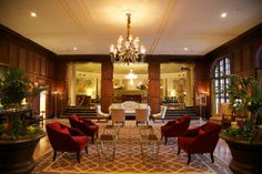 Lobby of the Hotel Roanoke, Roanoke VA