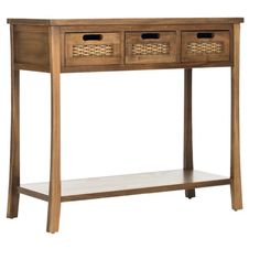 Bay Isle Home You'll fall for this Silliman 3 Drawer Console Table not only because of loads of storage space, with three drawers and a bottom shelf but also because of its subtle fusion of design details. Extra Storage Space, Storage Spaces, Entryway Storage, Low Shelves, Shelf, Sofa Tables, Console Tables, Drawer Fronts, Entryway Tables