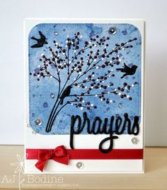 Gina Marie Designs - stitched rounded squares & prayers dies