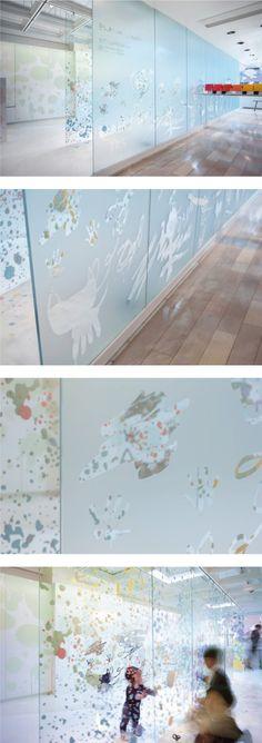 「空間を色で着せ替えよう!展」 キッズスペース Space design : Hisae IGARASHI Lighting design : Yuko YAMASHITA #カッティングシート #CUTTINGSHEET