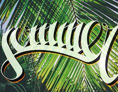 """Check out new work FOR SALE on my @Behance portfolio: """"Summer calligraphiti"""" http://on.be.net/1I209KC"""