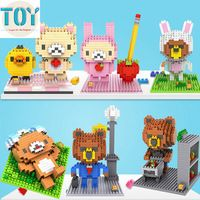 New Bear Blocks Models Building Toy Playing Golf Working Shoping Showering Swimming Kids Gifts Collection Free Tracking
