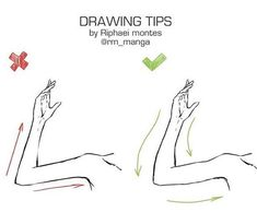 Drawing Tip | Arms | Reference #drawingtechniques