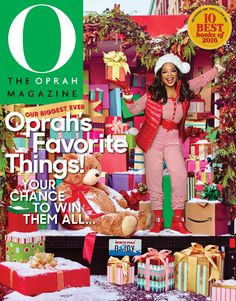 Look who made the cover of O, The Oprah Magazine's December issue! While the magnificent media mogul typically goes solo on her covers, we are so delighted to see our Giant Bear sharing the holiday spotlight. Meet the Bear that will be one of your most well loved gifts - guaranteed >> https://goo.gl/JYpVQH