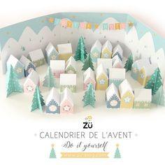 Le calendrier de l'Avent est en ligne et en téléchargement gratuit ! 🙌🏻 j'espère que ce petit village enneigé vous plaira 😊🌲🏘🌲✨ { www.zu-blog.com } #zü #züdiy #adventcalendardiy #calendrierdelaventdiy #freeprintable #calendrierdelavent #printable