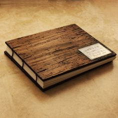Rustic Wedding Photo Album- Coptic Binding - Truly Unique personalized with your initials or names