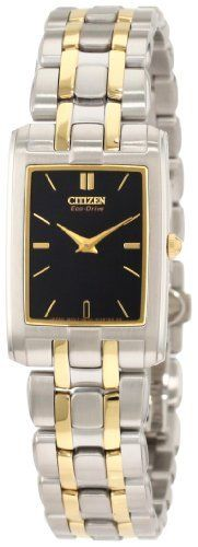 Citizen Women's EG3184-50E Stiletto Eco Drive Watch Citizen. $270.00. Sapphire crystal. Ultra thin. Eco Drive technology is fueled by light and it never needs a battery. Water resistant upto wet washing your hands. Case diameter: 20 mm. Save 40%!