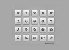 20 Fantastic Social Media Icons Set PSD - http://www.dawnbrushes.com/20-fantastic-social-media-icons-set-psd/