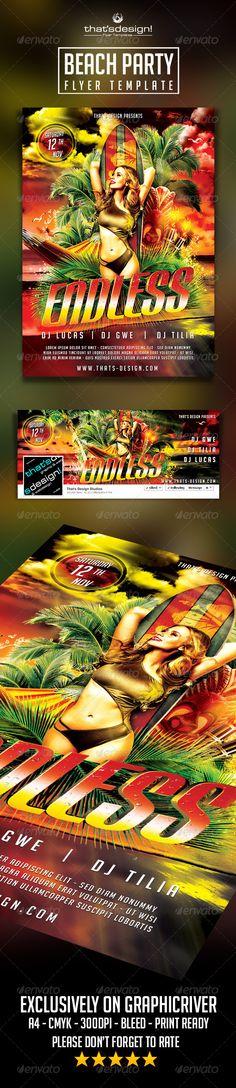 Beach Party Flyer Template V2 Official website : http://thats-design.com/