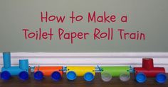 Whether your kids love trains or they just love crafts, they will have a lot of fun creating this toilet paper roll train craft.