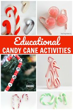FUN Candy Cane Activities - so many different candy cane crafts for kids. These are perfect for toddlers, preschool, kindergarten, and elementary age kids for Christmas. Christmas Activities, Stem Activities, Christmas Themes, Toddler Activities, Christmas Crafts, Christmas Ornaments, Christmas Christmas, Christmas Countdown, Christmas Decorations