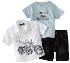 Kenneth Cole Baby-boys Infant Graphic 3 Piece Set
