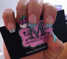 Resultado de imagen para decorados de uñas mistica Elegant Nail Designs, Nail Art Designs, Spring Nails, Summer Nails, French Tip Nails, Flower Nail Art, Dream Nails, Nail Decorations, Beautiful Nail Art