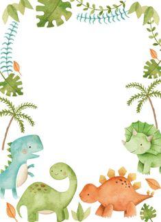 Dinosaur Birthday Invitations, Dinosaur First Birthday, Baby Birthday, Birthday Ideas, Cute Dinosaur, Dinosaur Party, Dinosaur Room Decor, Baby Dino, Kids Wallpaper
