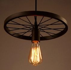 68.00$  Watch now - http://alic1g.worldwells.pw/go.php?t=32657894911 - Free shipping iron industrial wheel round chandelier country restaurant heavy metals industry the wind restoring ancient fixture