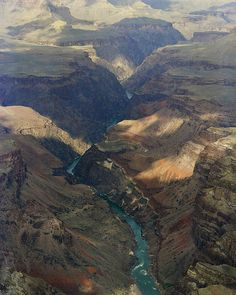 """""""Grand Canyon And River In The Shade"""" by M K Miller"""