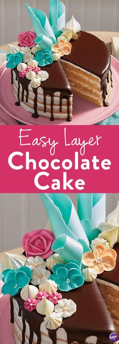 How to Make Easy Layer Chocolate Cake and Ganache - Learn how to make a layered chocolate cake and ganache using this easy recipe with step-by-step instructions from Joann.com!