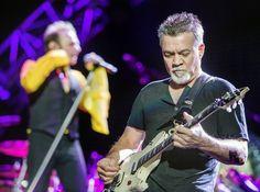 Eddie Van Halen performs during the Van Halen concert on Wednesday, July 22, 2015, at Cricket Wireless Amphitheater in Bonner Springs.